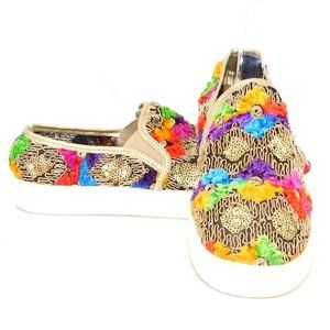 UNIQUE Wanted Sequin Embroidered Slip-On Sneaker